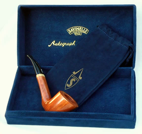 "Savinelli's ""Briar Line"" a new series of superior quality briar 'free hand' pipes"