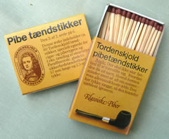 Extra thick Danish Matches for Cigars or Pipes Box of 60 - 56mm long