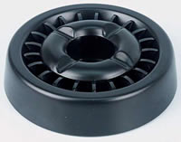 Ashtrays with snuffers - black