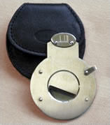 Dunhill Cigar Cutter - Stainless Steel with Leather pouch