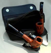 wide compartment for 2 pipes, tool, cleaners