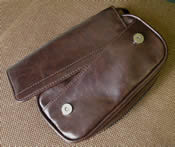 2-Pipe Bag, Antique brown Leatherette