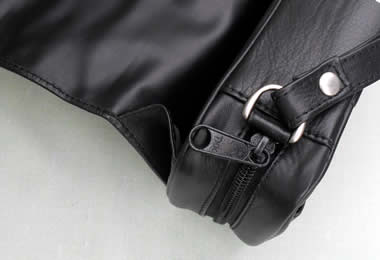 From Germany Black Leather 2-Pipe Bag