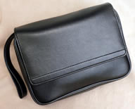 4-Pipe Bag, Black Leatherette