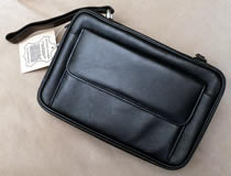 4-Pipe Bag, Black Leather