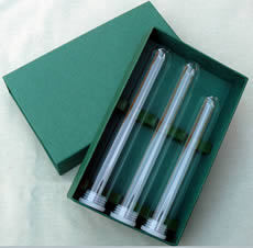 Elegant, sturdy, sliding Travel Cigar Box for 3 glass tubes