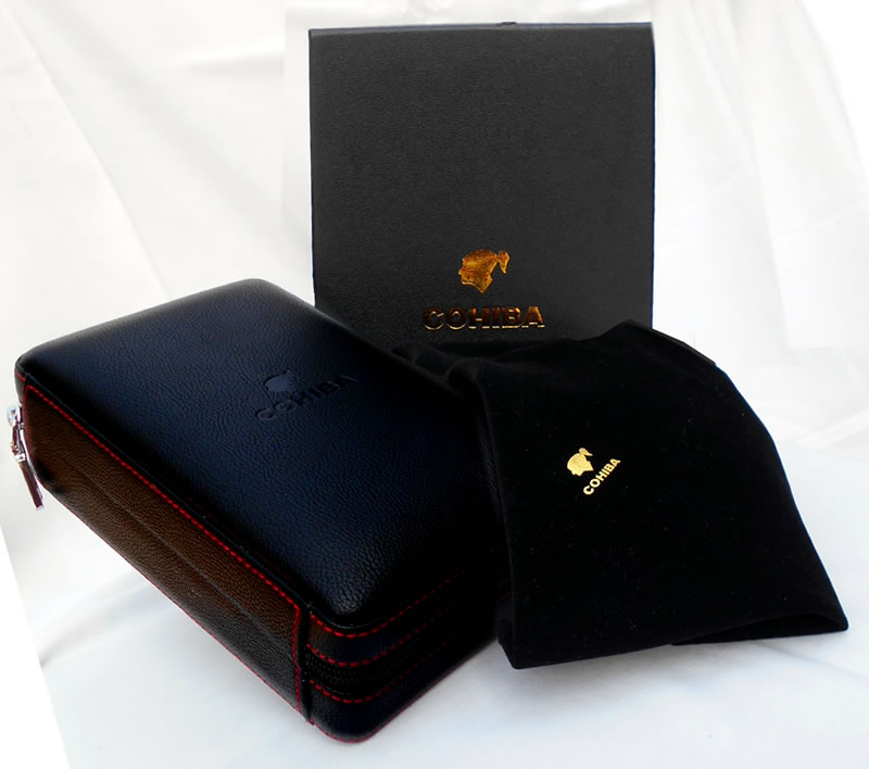 """Cohiba"" branded ** combination travel cigar case for 3 cigars"