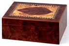 Humidor with Cigar Leaf decoration