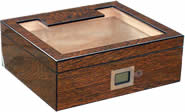PASSATORE humidor set ironwood design/glass top f.ca.50 cig
