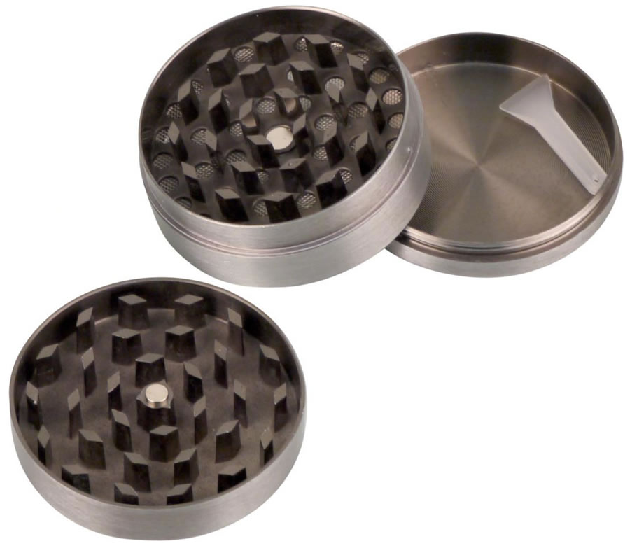 Metal Grinder with Cannabis lid