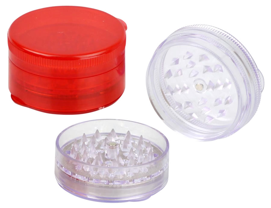 Sturdy plastic transparent Grinder, 4 colours