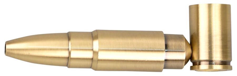 "Metal pipe ""Bullet"", antique brass"