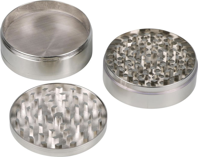 4-part Metal Grinder for herbs - Glitter effect
