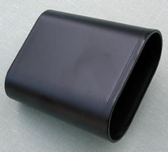 Black synthetic oval Dice Shaker