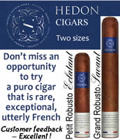 Your opportunity to try a puro cigar that is rare, exceptional, utterly French.
